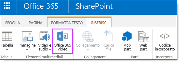 Office 365 Video: incorporare un video