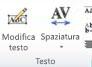 Gruppo Testo WordArt in Publisher 2010