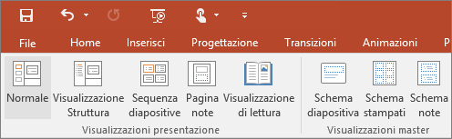 Mostra il menu Visualizza in PowerPoint