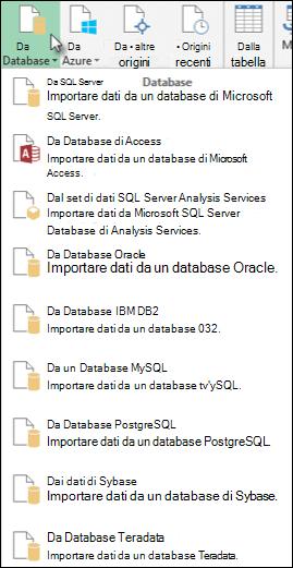 Recuperare dati finestra di dialogo dal Database