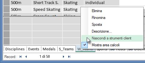 Come nascondere tabelle dagli strumenti client di Excel