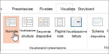 Visualizzazione della barra multifunzione con normale evidenziato