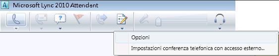 Icona Opzioni Lync Attendant