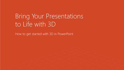 Screenshot della copertina di un modello 3D di PowerPoint