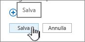 Salvare le modifiche alla barra di avvio veloce