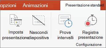 Fare clic sulla scheda presentazione