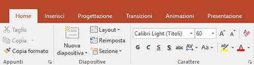 Mostra l'evidenziazione del testo sulla barra multifunzione di PowerPoint