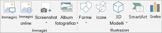 Inserire immagini o illustrazioni in PowerPoint.