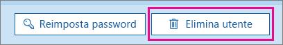 Eliminare un utente in Office 365.