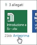 Anteprima degli allegati di Office in Outlook Web App