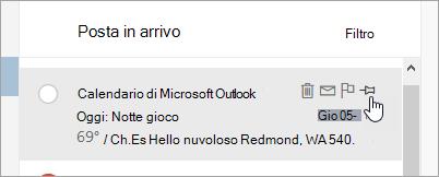Screenshot dell'opzione blocca