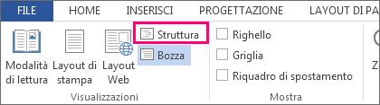 Immagine del comando Struttura del menu Visualizza