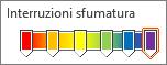 Sfumatura arcobaleno con sei interruzioni