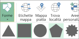 Opzione Forme in Mappe 3D