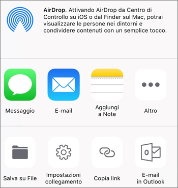 Screenshot del pulsante Salva foto nell'app OneDrive in iOS