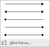 Fare clic su Altre frecce in fondo al menu Frecce.