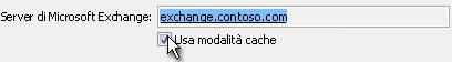Casella di controllo Usa modalità cache