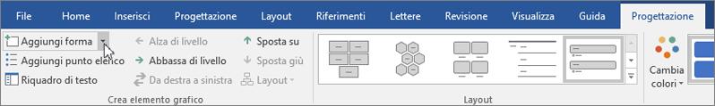 Fare clic Aggiungi forma