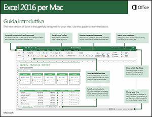 Guida introduttiva di Excel 2016 per Mac