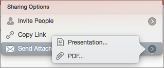 Opzioni di condivisione tramite posta elettronica in PowerPoint per Mac