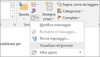 Scegliere Visualizza nel browser.