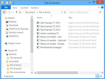 Scegliere Sfoglia per cercare nel computer il file da caricare nel sito del team.