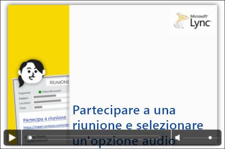 Schermata di una diapositiva di PowerPoint con i controlli video