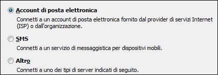 Aggiungere un nuovo account di posta elettronica in Outlook 2010