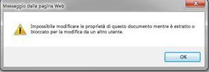Messaggio per avvisare che il file è bloccato da un altro utente