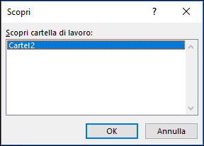 Finestra di dialogo Scopri Windows