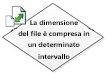 La dimensione file è compresa in un determinato intervallo