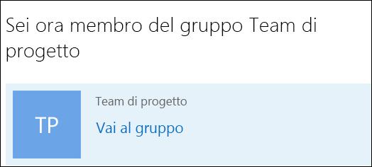 Partecipare a un gruppo in Outlook