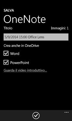 Inviare immagini a Word e PowerPoint su OneDrive