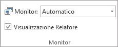 Gruppo Monitor nella scheda Presentazione