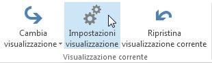 Comando Impostazioni visualizzazione sulla barra multifunzione