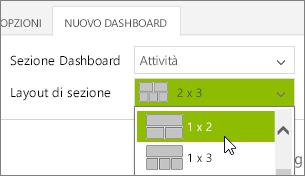 Elenco di layout di sezione
