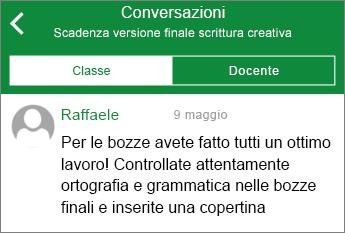 Visualizzazione Conversazione