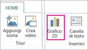 pulsante grafico 2d nella scheda home di power map