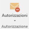 Usare il pulsante Autorizzazione per assegnare diritti per il messaggio