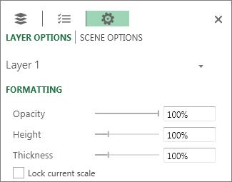 Opzioni di altezza e spessore