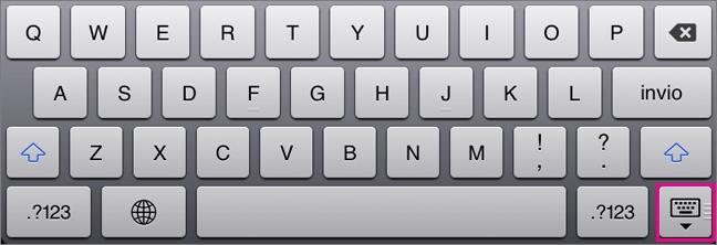 Nascondere la tastiera su schermo