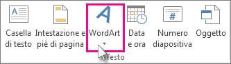 Fare clic per aggiungere WordArt
