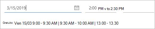 Screenshot delle volte in cui è disponibile un invito a una riunione