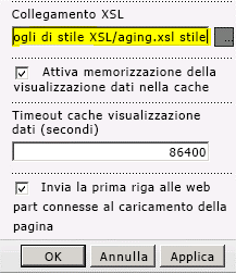 Collegamento al file XSL incollato