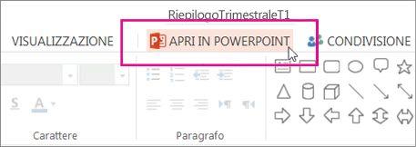 Apri nell'applicazione desktop PowerPoint