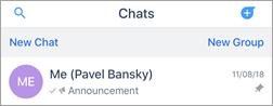 Screenshot della chat in Kaizala