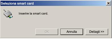 Richiesta di inserimento della smart card