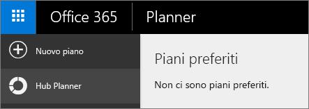 In Planner scegliere Nuovo piano.