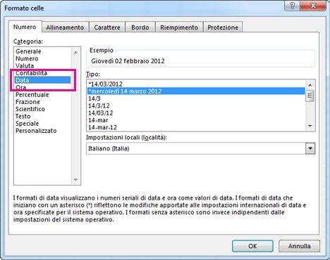 Datazione dati