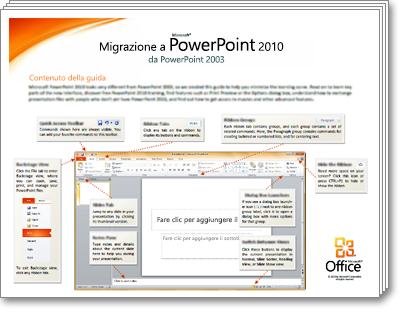 Anteprima per la guida alla migrazione a PowerPoint 2010
